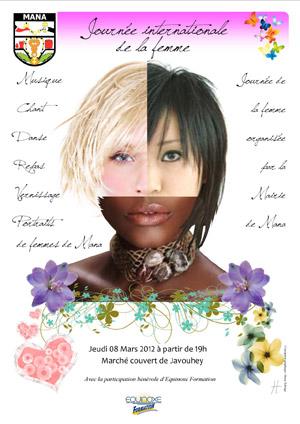 Génial Affiche Pour La Journée De La Femme affiche journee de la femmeequinoxe formation guyane | equinoxe